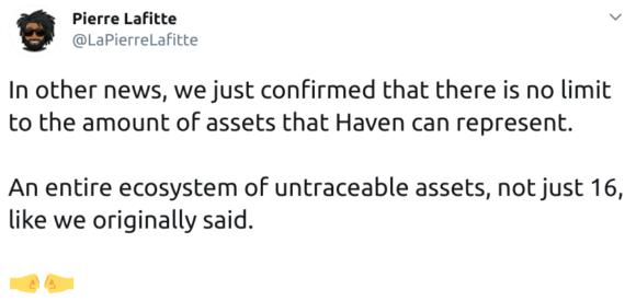 Haven Protocol kann endlos viele Assets aufnehmen