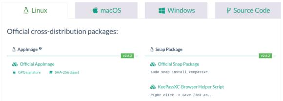 KeePassXC 2.6.2 gibt es für Linux, Windows und macOS