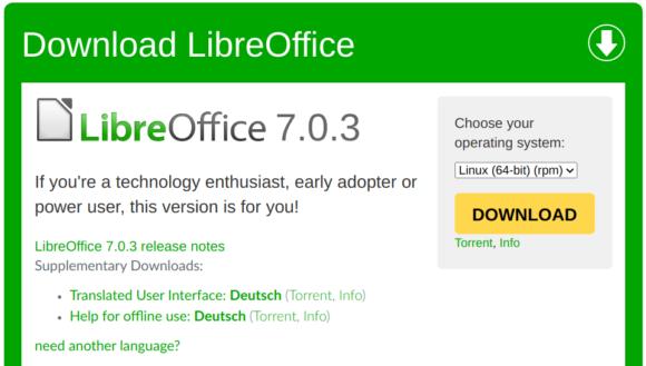 LibreOffice 7.0.3 ist da