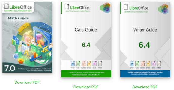 LibreOffice Math Guide 7.0 ist veröffentlicht