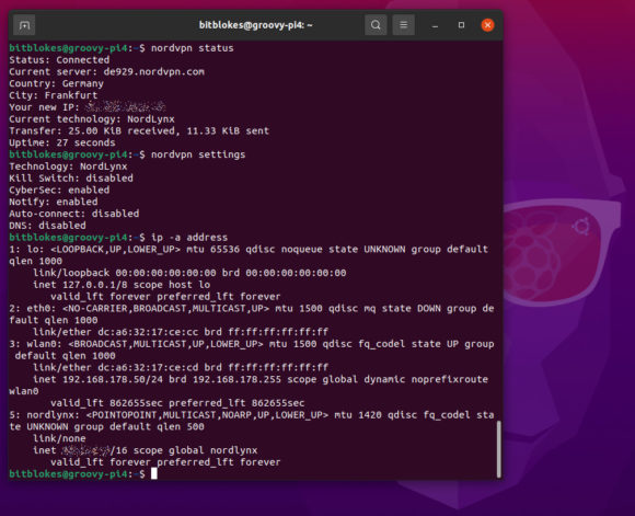 NordVPN läuft problemlos mit Ubuntu 20.10 für Raspberry Pi