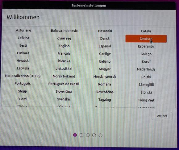 Sprache auswählen