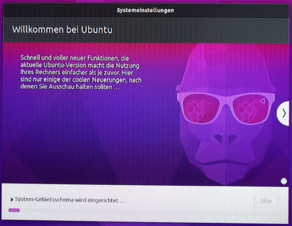 Ubuntu 20.10 für Raspberry Pi konfiguriert sich
