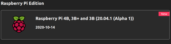 Ubuntu Unity 20.04.1 RPi Alpha