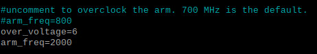 Raspberry Pi 400 auf 2 GHz übertakten