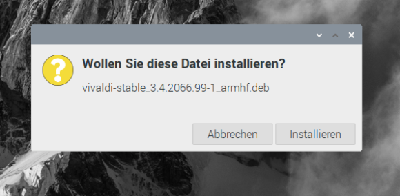 Vivaldi mittels Doppelklick installieren