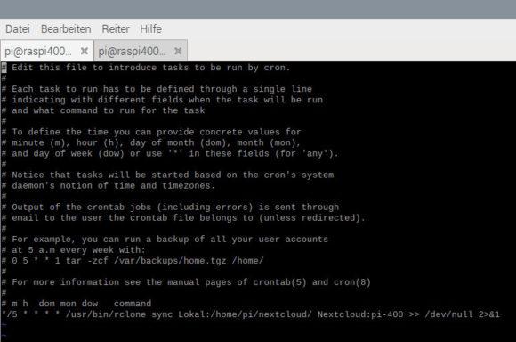 Persönliche Daten via rclone und WebDAV auf die Nextcloud sichern