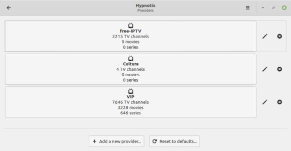 Hypnotix mit mehrere TV-Sendern (Quelle: linuxmint.com)