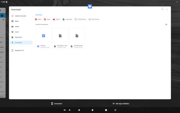 Zwischen den Apps wechseln – funktioniert auch bei Android 11 für Raspberry Pi