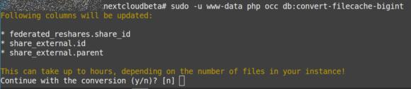 Datenbank modifizieren
