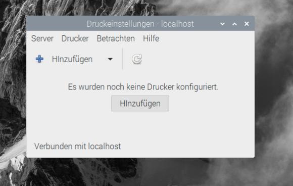 Druckereinstellungen sind neu bei Raspberry Pi OS