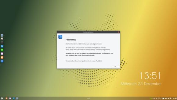 Das vorinstallierte und vorkonfigurierte Tuxedo OS ist echt nicht schlecht …