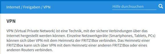 FRITZ!Box VPN – was ist das und wie kann ich es benutzen