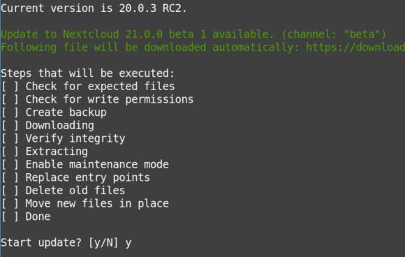 Nextcloud 21 Beta 1 ist verfügbar – zumindest bei mir