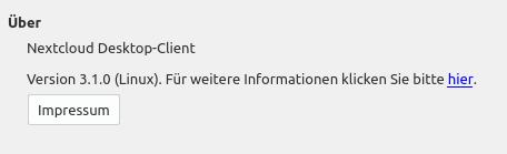Nun läuft Nextcloud Client 3.1