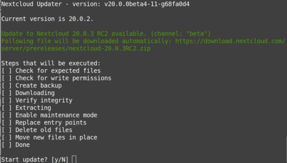 Nextcloud 20.0.3 RC2 – ist OK für die Testinstanz