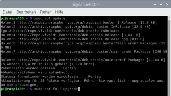 Komplettes Upgrade beim Raspberry Pi OS
