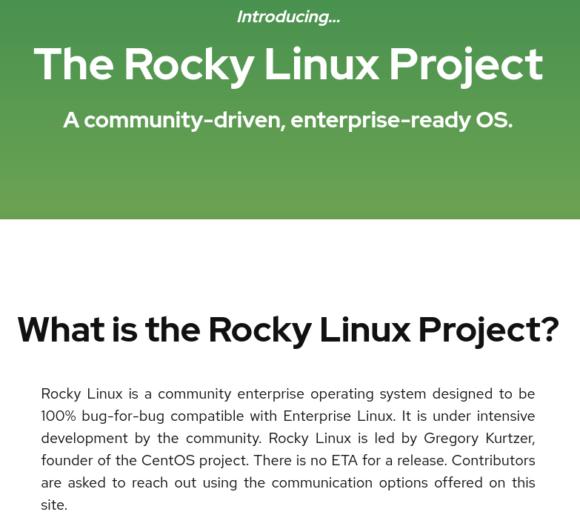 Rocky Linux als Ersatz für CentOS