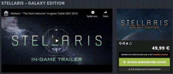 Stellaris – Galaxy Edition kostet normalerweise 50 Euro