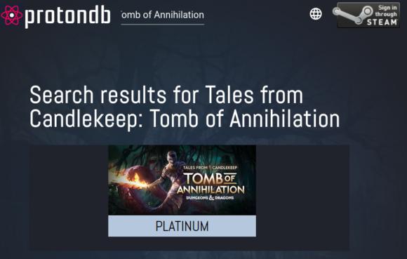 Tales from Candlekeep: Tomb of Annihilation – Platinum – sollte unter Linux laufen