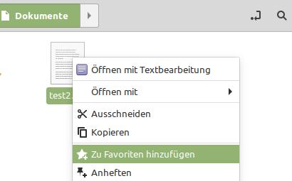 Linux Mint 20.1 mit einer Favoriten-Funktion