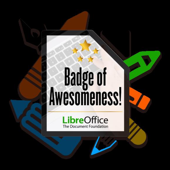 LibreOffice New Generation – als Anerkennung gibt es Abzeichen oder Badges (Quelle: documentfoundation.org)