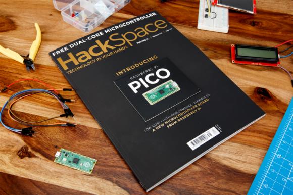 Beim aktuellen HackSpace-Magazin ist ein Raspberry Pi Pico enthalten (Quelle: raspberrypi.org)