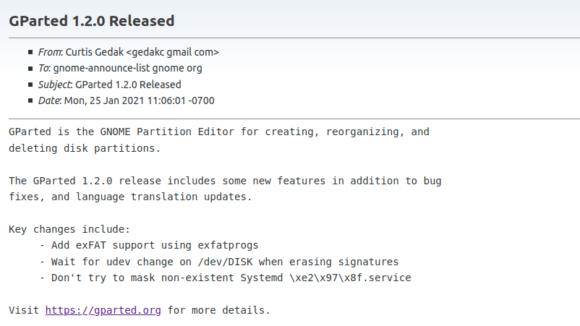 GParted 1.2 unterstützt ab sofort exFAT als Dateisystem