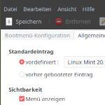 GRUB-Reihenfolge unter Linux Mint / Ubuntu mit grub-customizer ändern