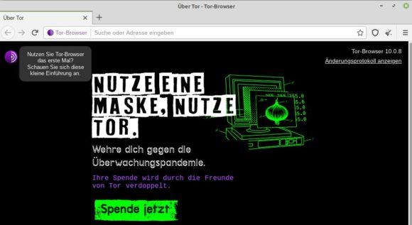 Tor Browser 10.0.8 ist verfügbar