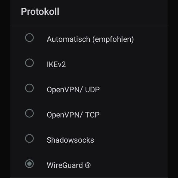 VPN-Protokolle von Surfshark