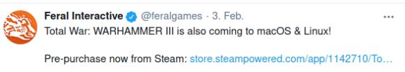 Total War: Warhammer III wird auch für Linux und macOS kommen!