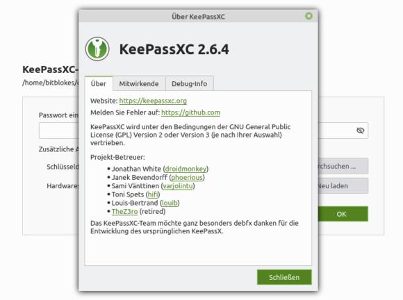 KeePassXC 2.6.4 ist veröffentlicht