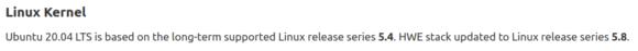 HWE ist Linux-Kernel 5.8