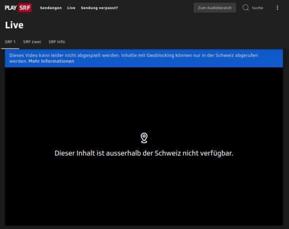Dieser Inhalt ist ausserhalb der Schweiz nicht verfügbar – also keine Formel 1 im Free-TV