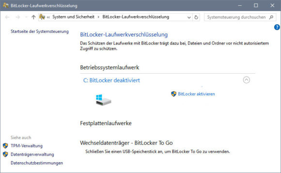 Windows 10 – BitLocker erst aktivieren?