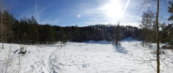 Alter Steinbruch im Winter