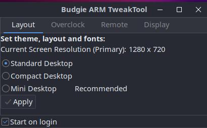 Ubuntu Budgie für Raspberry Pi: Layout
