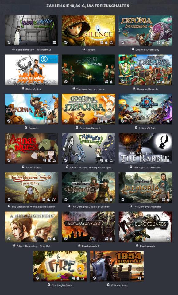 Daedalic 15th Anniversary Bundle – 10 Linux-Spiele für circa 10 €