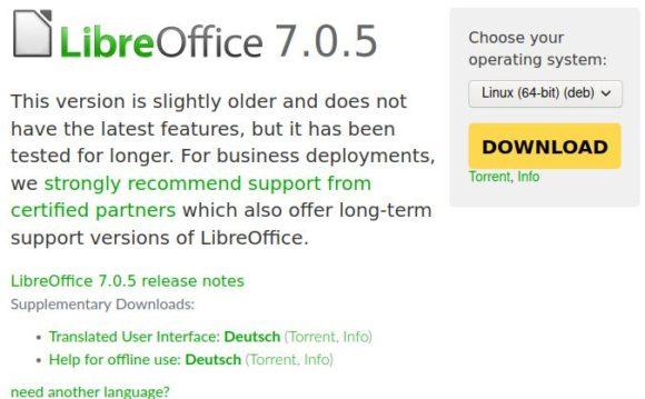 LibreOffice 7.0.5