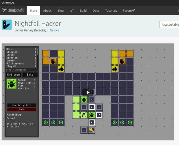 Nightfall Hacker auf Snapcraft