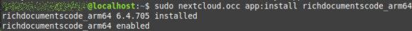 Via Kommandozeile konnte ich dann Collabora Online für Raspberry Pi installieren