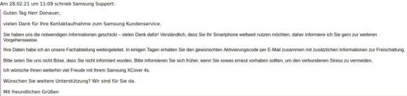 Das ist schon sehr unverschämt vom Samsung Anti-Support