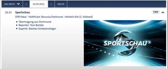 DFB-Pokal – 2. Halbfinale live in der ARD