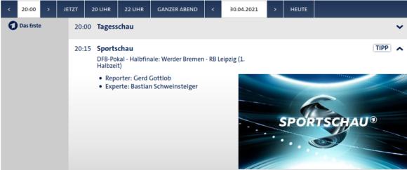 DFB-Pokal – Halbfinale live in der ARD