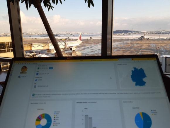 Am Flughafen in Istanbul mit NordVPN nach Deutschland verbunden