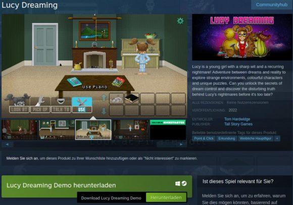 Demo von Lucy Dreaming verfügbar