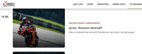 MotoGP kostenloser Livestream via Servus TV