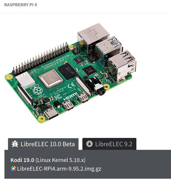 LibreELEC (Matrix) 10.0 BETA2 für Raspberry Pi 4