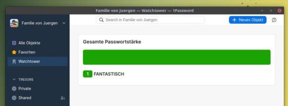 Watchtower überwacht die Stärken Deiner Passwörter